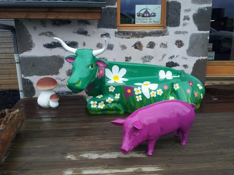 vache banc en FR55 résine design 007