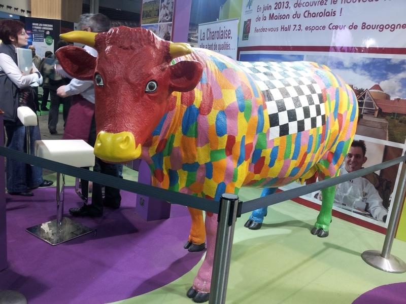 vache en résine A1443design 127