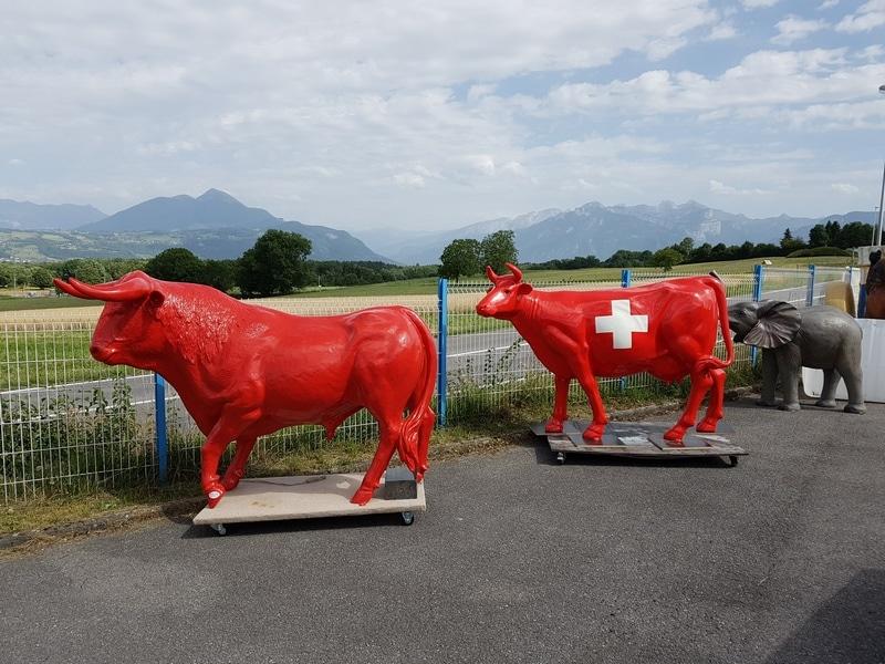 vache en résine et taureau A1779 design 064