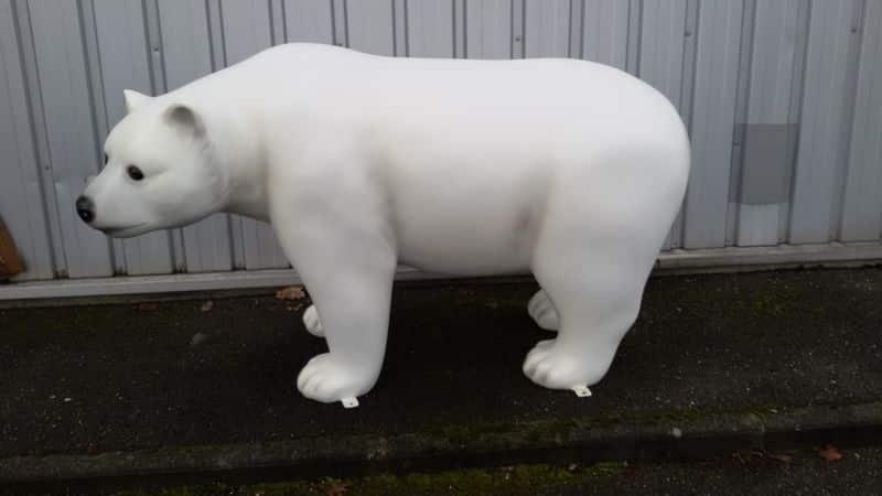 ours blanc en resine