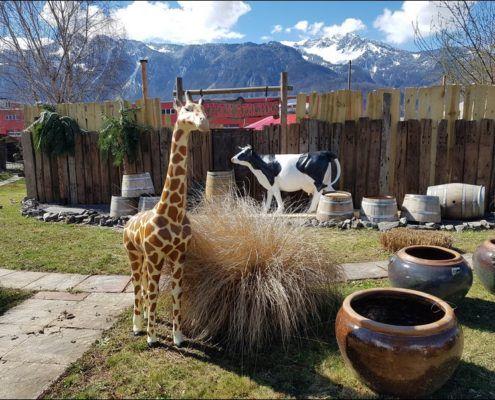 girafon en resine