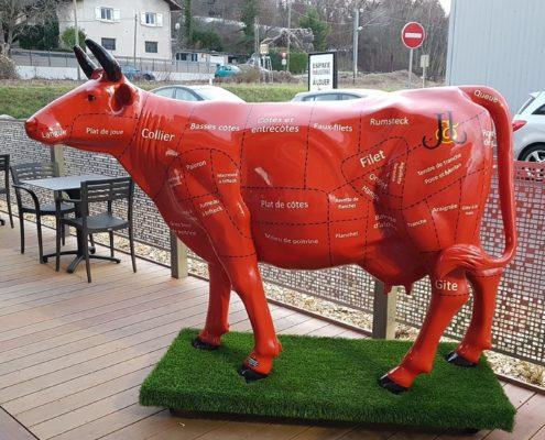 vache quartiers de viandes