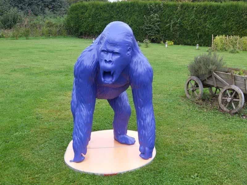 gorille bleu mat