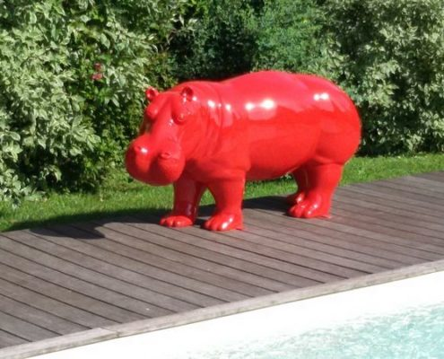 hippopotame rouge