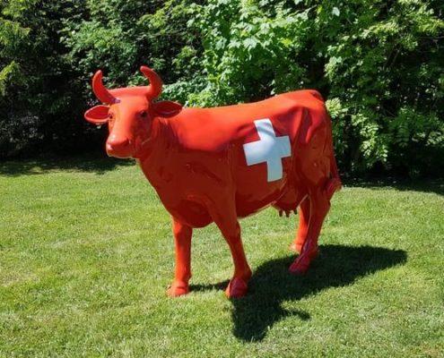vache suisse en resine