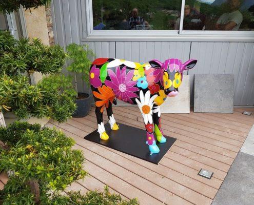 veau flower en resine design